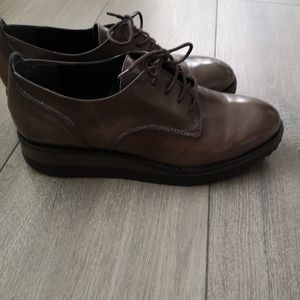 Browns leather couture Oxford pump